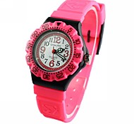 Children's Three degrees waterproof Plastic Band Wrist Watch(Assorted Colors)
