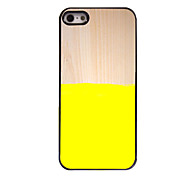 Yellow Design Aluminium Hard Case for iPhone 5/5S