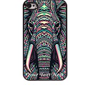 personalizzato phone caso - il caso di disegno elefante in metallo per iPhone 4 / 4S