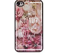 personalisierte-Tasche - Blumen-Design Metallkasten für iphone 4 / 4s