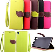 KARZEA™ Leaf Snap PU Full Body Case with TPU Back Cover Stand for HTC Desire 820 D820u (Assorted Colors)