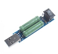 USB Load Tester Discharge Resistance USB Charge Current Detection USB Mini Discharge Load Resistor 2A / 1A Switch
