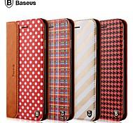 baseus®luxury mix de alta qualidade e jogo pu caso da tampa do material para 6s iphone plus / 6 mais (cores sortidas)