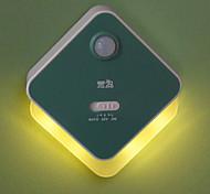 Xuanpin 4Led Yellow/White Light Human Body Induction Lamp(Green)