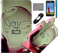 COCO FUN® Love Lamp Pattern PU Leather Full Body Case with Screen Protector and USB Cable and Stylus for LG L80