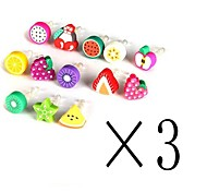 [3-PCS]Fruit 3.5 MM Polymer Clay Anti-dust Earphone Jack for iPhone/iPad and Others(Random Color)