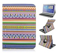 Seven Color Ling Shape Rotation Pattern PU Leather Full Body Case with Card Slot for Samsung Galaxy Tab 4 10.1 T530