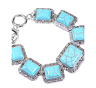 Coway Square Multiple Beaded Turquoise Bracelet