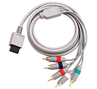 1.8M 5.904FT Wii 30Pin Male to 5RCA Male Gold-Plated HD Video Audio TV Display Cable for Wii