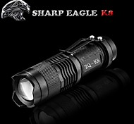 Aigle de Sharp® Lampes Torches LED LED 500LM Lumens Mode Cree XR-E Q5 14500Etanche / Rechargeable / Résistant aux impacts / Surface