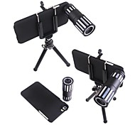 4X-12X Zoom Metal Shell Magnetic Telephoto Camera Lens+Tripod for iPhone 6 Plus