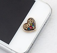 Rhinestone Heart Home Button Sticker for iphone and Others
