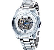 Men's Skeleton Dial Steel Strap Automatic Waterproof Mechanical Watch(Assorted Colors)