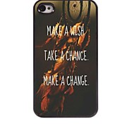 Wish Chance and Change Design Aluminum Case for iPhone 4/4S