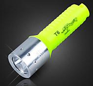 Hanguang XQ-3 rechargeable monomode 1x cree t6 de plongée à LED lampe de poche (800lm, 1x18650, vert)
