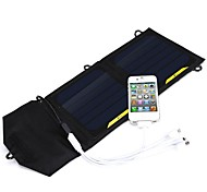 7W 5V 1.4A External USB High Efficiency Solar Power Panel Charging Bag for iPhone6/6plus/Samsung/other Mobile Devices
