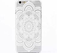 Flower Pattern PC Back Cover Case for iPhone 6