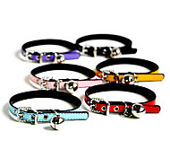 Chat / Chien Colliers Manches Pagode / Strass Arc-en-ciel Cuir PU