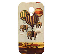 Elephant Pattern TPU Soft Case for Motorola MOTO G2