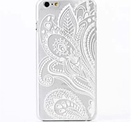Feather Pattern PC Back Cover Case for iPhone 6