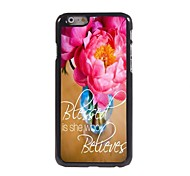 Flower Design  Aluminum Case for iPhone 6