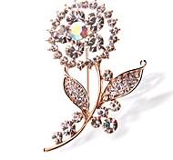 High-grade Crystal Flower Cute Brooch