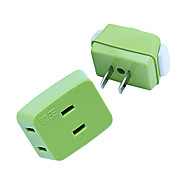 QW-P10 Mini Extension Socket with Converter Green