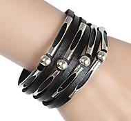 leather Charm BraceletsEuropean And American Popular Multi-beaded Leather Bracelet (Multicolor) Jewelry