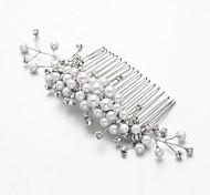 Women's/Flower Girl's Alloy/Imitation Pearl/Cubic Zirconia Headpiece - Wedding/Outdoor Hair Combs/Flowers