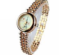 pulseira de relógio das mulheres assistir com a torre de ferro caso rodada