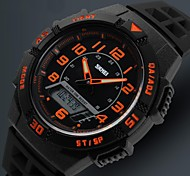 Men's Japanese Quartz Analog-Digital LCD/Calendar/Chronograph/Water Resistant/Dual Time Zones/Alarm Sport Watch