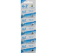 AG0 / LR521 / LR63 / 379 1.5V Alkaline Button Cell Batteries  (10-Pieces/Silver)