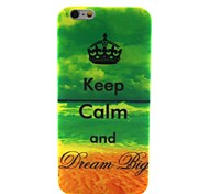 mantener la calma y el sueño patrón 0.6mm caso ultrafino grande para el iphone de apple 6