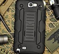 rivestimento protettivo resistenza cinghia morsetto goccia armatura con stand e clip per Samsung Galaxy Note 2 N7100