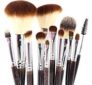 alta qualidade profissional de maquiagem jogo de escova 12pcs violeta ferramentas de maquiagem kit
