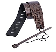Genuine Leather Guitar Strap with Print in High Quality