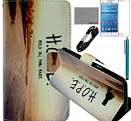 COCO FUN® Horizontal Sunset Pattern PU Leather Case with Film and Stylus for Samsung GALAXY Grand Prime G530