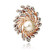Elegance Clothing Diamond Pearl Tornado  Brooch