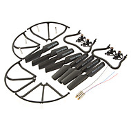 Crash Pack with Motor & Landing Gear & Propellers & Propeller Guide & Motor Base & Gear for jjrc H8C KH8C-001 Black