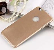 simili cuir ultra-mince pu avec le dos cas de couverture de trou pour iPhone 6 (couleurs assorties)