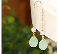 Color Retention of Gold Ear Line Crystal Ball Earring