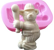 3D Silicone Cake Decorating Mold Sport Baseball Bear Silicone Mold For Fondant Chocolate Soap Arts & Crafts