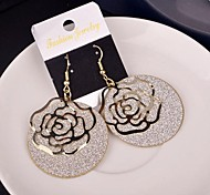 2015 Fashion Romantic Flower Lady Frosted Earrings