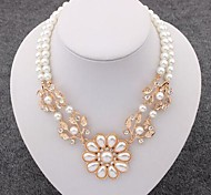 Beautiful Pearl Alloy Necklace