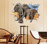 Environmental African Elephant 3D Wall Sticker
