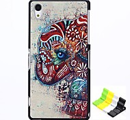Elephant Pattern PC Hard Case and Phone Holder for Sony Z2