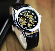Men's Dress Watch Mechanical Hand Wind  Hollow Engraving