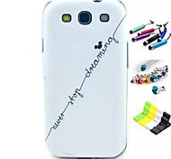 Englisch Alphabet Muster mit Stift, Anti-Staub-Stecker und stehen tpu weichen Kasten für Samsung s3 i9300