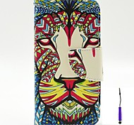 The King of The Forest Pattern PU Leather Case Cover with A Touch Pen ,Stand and Card Holder for Motorola Moto G