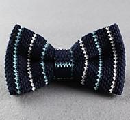 Gravata Borboleta (de Roupa de Malha , Azul) - Vintage/Pesta/Trabalho/Casual